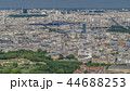 Top view of Paris skyline from observation deck of Montparnasse tower timelapse. Main landmarks of european megapolis. Paris, France 44688253