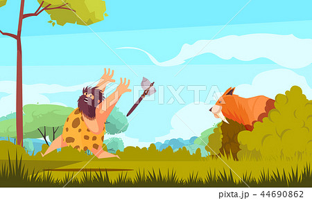 Hunting In Stone Age 44690862
