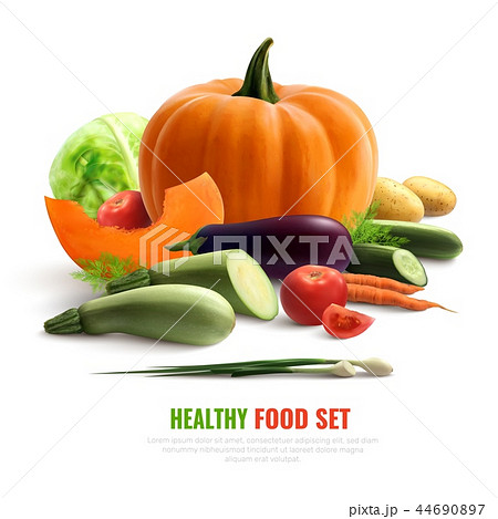 Vegetables Realistic Composition 44690897
