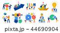 セット アイコン チームワークのイラスト 44690904