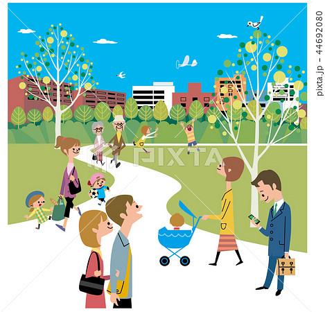 賑やかな公園の風景 44692080