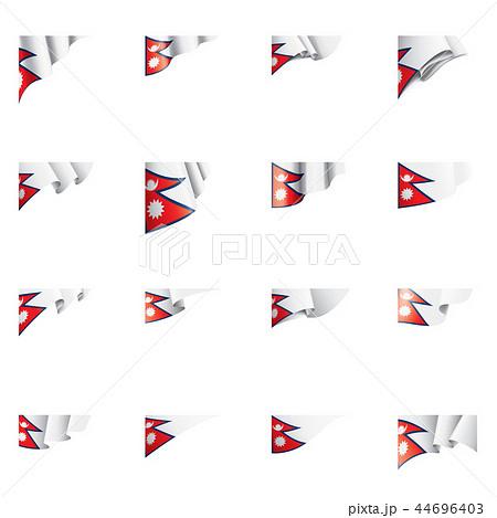 Nepal flag, vector illustration on a white background 44696403