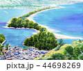 天橋立 あまのはしだて 松林 水彩画 スケッチ 44698269