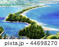 天橋立 あまのはしだて 松林 水彩画 スケッチ 44698270
