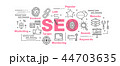 SEO SEO アイコンのイラスト 44703635