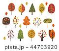 北欧風の木秋冬水彩 44703920