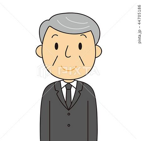 44705186 男性 シニア 喪服のおじいちゃん 笑顔 冠婚葬祭