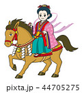 馬に乗る女神 44705275