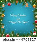クリスマス デコレーション 装飾のイラスト 44708527