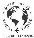 世界 地球 飛行機のイラスト 44710940