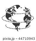 世界 地球 飛行機のイラスト 44710943