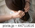 女性 髪 髪の毛の写真 44711616
