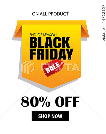 black friday sale for shopping flyer template のイラスト素材