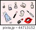 メイク、ドレス、おしゃれ道具 44713152