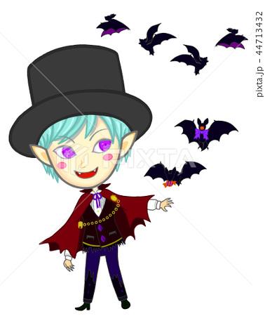 ヴァンパイアと蝙蝠のイラストのイラスト素材 44713432 Pixta