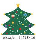 クリスマスツリー オーナメント ベクターのイラスト 44715410