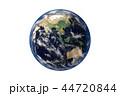 地球のCGイラストレーション(白バック) 44720844
