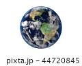 地球のCGイラストレーション(白バック) 44720845