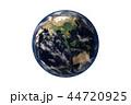 地球のCGイラストレーション(透過素材) 44720925
