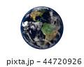 地球のCGイラストレーション(透過素材) 44720926