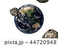 地球の危機(CGイラストレーション・透過素材) 44720948