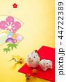 年賀状 猪 鶴のイラスト 44722389