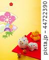 年賀状 猪 親子のイラスト 44722390