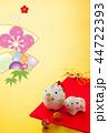 年賀状 猪 鶴のイラスト 44722393