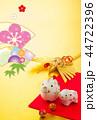 年賀状 年賀 いのししのイラスト 44722396