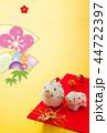 年賀状 猪 鶴のイラスト 44722397