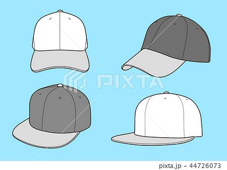 帽子 ベースボールキャップ テンプレート ベクターのイラスト素材
