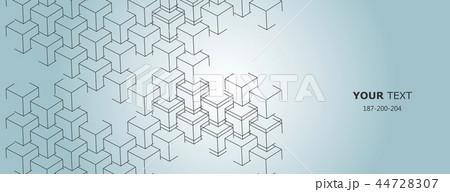 Cube pattern vector banner design 44728307