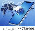 ネットワーク スマートフォン スマホのイラスト 44730409