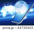 ネットワーク スマートフォン スマホのイラスト 44730443