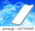 ネットワーク スマートフォン スマホのイラスト 44730465