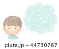 フキダシ 男の子 子供のイラスト 44730767