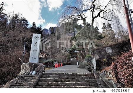 群馬県妙義神社の境内、日本のお寺、パワースポット、空と雲、日本文化 44731367