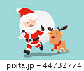 クリスマス サンタ サンタクロースのイラスト 44732774