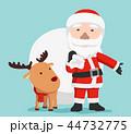 クリスマス サンタ サンタクロースのイラスト 44732775