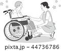 シニア 介護 車椅子のイラスト 44736786