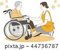 シニア 介護 車椅子のイラスト 44736787
