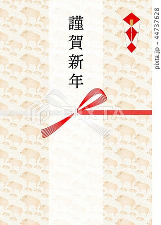 年賀2019亥水引熨斗背景 44737628