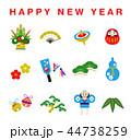 アイコン happy newのイラスト 44738259