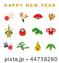 アイコン happy newのイラスト 44738260