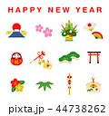 アイコン happy newのイラスト 44738262