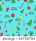 クリスマス パターン 柄のイラスト 44738784