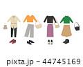 コーディネート ファッション レディースのイラスト 44745169