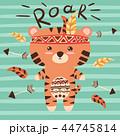 タイガー トラ 虎のイラスト 44745814