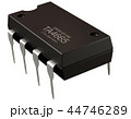 Integrated circuit or 8 pin micro chip. Computer integrated circuit design. 44746289