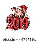 ぶた ブタ 豚のイラスト 44747391
